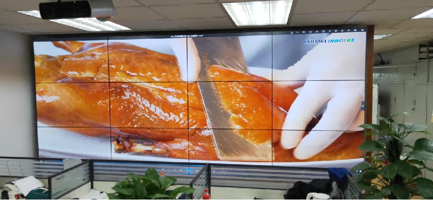 公司展厅12块拼接屏项目